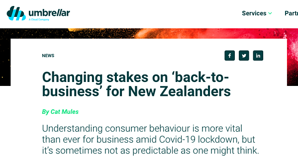 Article headline image: Changing stakes on 'back-to-business' for New Zealanders